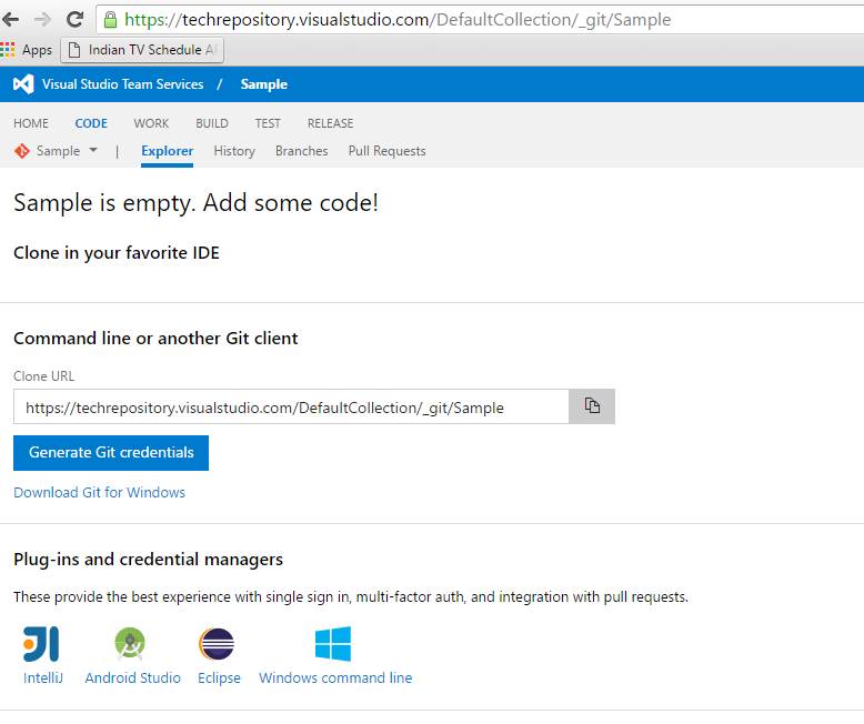 Visual Studio Team Services : Hosting Your First Project