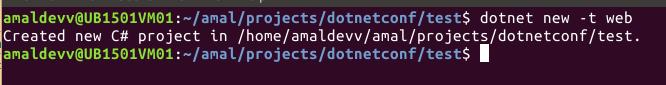 dotnet new mvc project